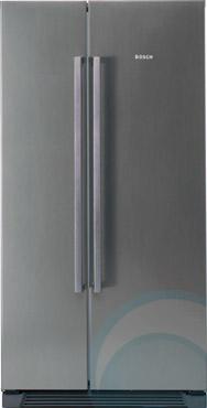 home kitchen side by side fridges 618l bosch side by side frid. Black Bedroom Furniture Sets. Home Design Ideas