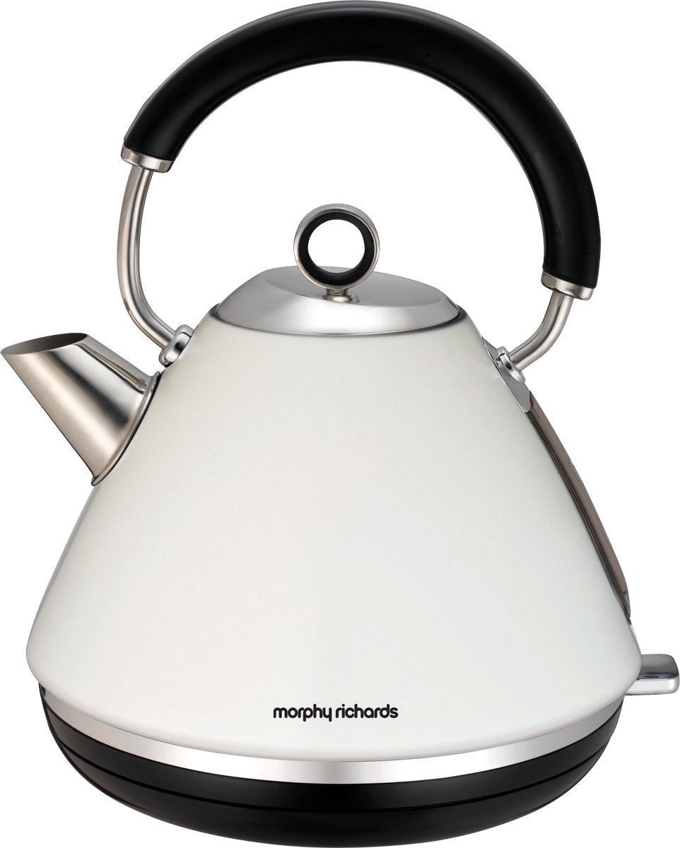 Morphy Richards Bbq: Morphy Richards White Accents Traditional Pyramid Kettle