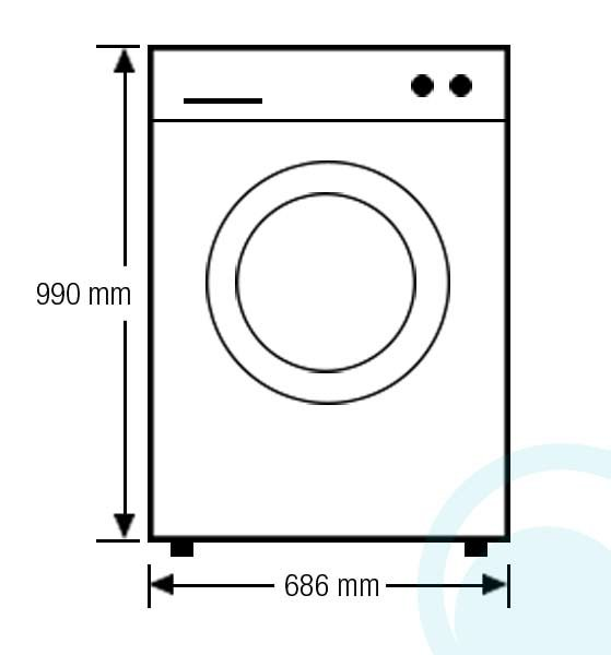 washing machine and dryer dimensions